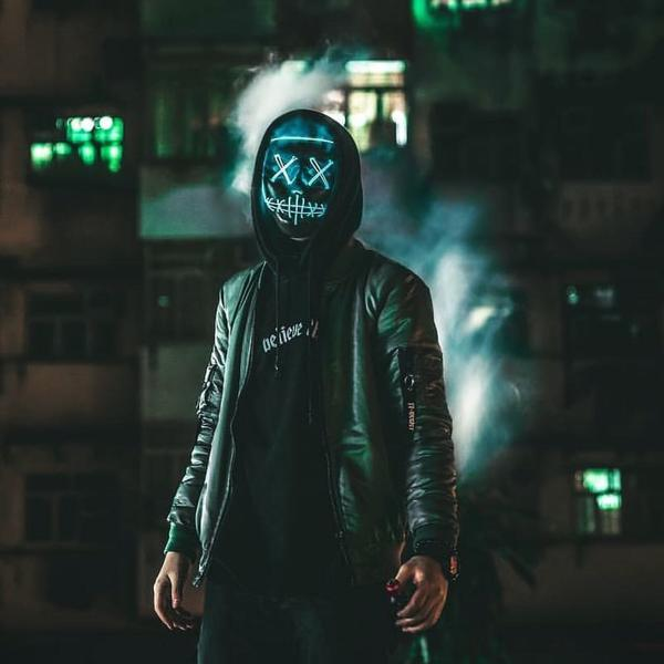 purge light up mask