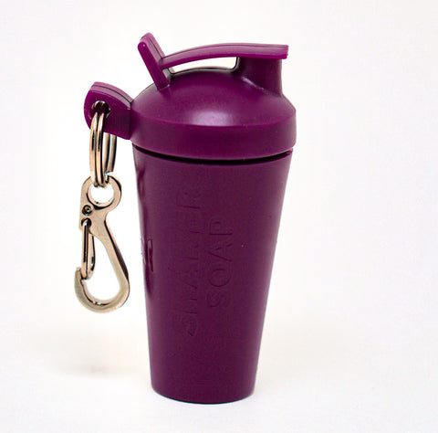 SHAKER SOAP KEY CHAIN - PLUM PURPLE