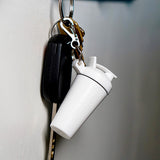 SHAKER SOAP KEY CHAIN - WHITE