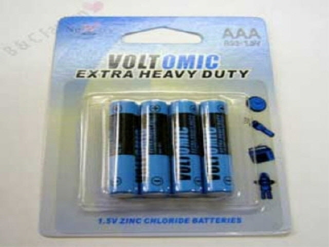 Voltomic Extra Heavy Duty Batteries AAA x 4pk