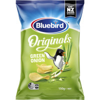 Bluebird Originals Potato Chips Green Onion 150g