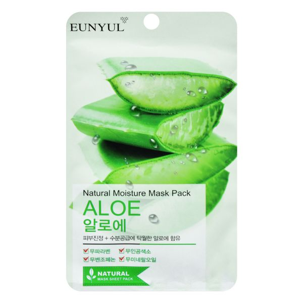 Eunyul Natural Moisture Mask Pack Aloe 10pk