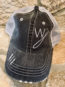 WJ logo distressed hat