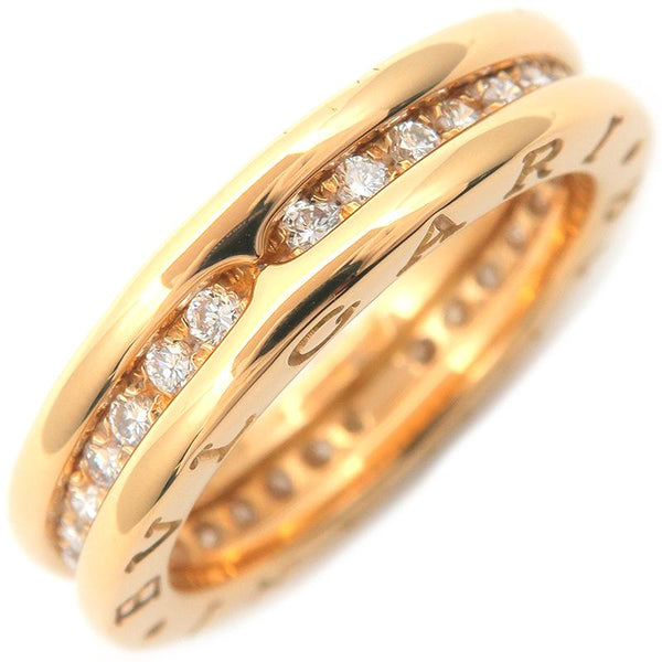 Bulgari B-Zero1 Full Diamond Yellow Gold Ring Sz. US 6