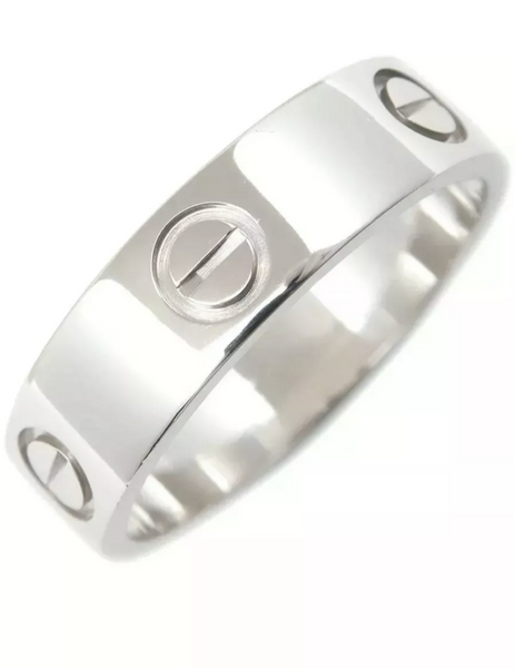Cartier PT950 Platinum Love Ring Size #58