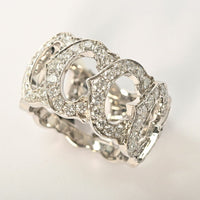 Cartier C de Diamond Entrelaces 18Kt White Gold Ring Size #54 / US 6.5
