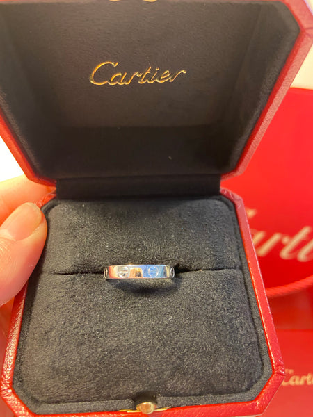 Cartier Mini / Wedding Love Ring 18KT White Gold #55/ US 7