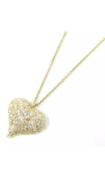 Tiffany & Co. Pave Diamond Heart Necklace