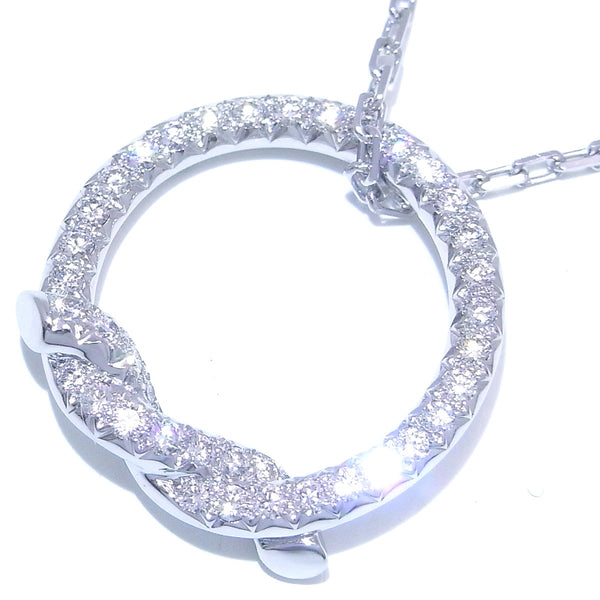 Cartier Diamond 18KT White Gold Entrelaces Pendant Necklace