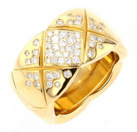 CHANEL Diamond Large CoCo Crush 18KT Yellow Gold Ring Size 55/ 7