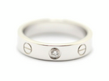 Cartier 1P Diamond Mini Wedding Love Ring #53