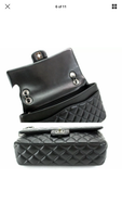 CHANEL CC Embellishments Double Flap Black Caviar Handbag