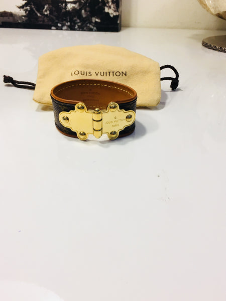 Louis Vuitton Save It Monogram Leather Bracelet