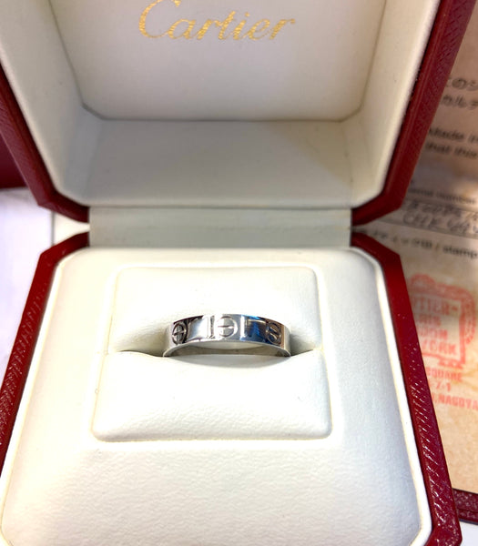Cartier Mini Love Ring 18KT White Gold #50/ US 5 -5.5