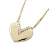 Louis Vuitton Diamond V Heart 18KT Rose Gold Necklace