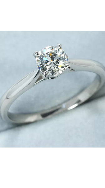 Auth Cartier .40 Diamond Wedding / Engagement Ring US 5