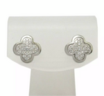 Van Cleef & Arpels Pure Diamond Alhambra Pierces Earrings