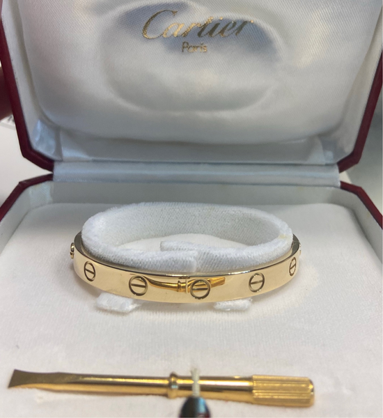 Cartier Love Bracelet 18KT Yellow Gold Size 17