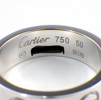Cartier 18KT White Gold Love Ring #50/ US 5