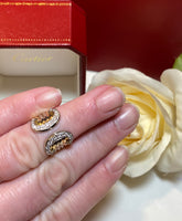 Cartier Tri-Gold 2C Diamond Paved Wide Band Ring #49