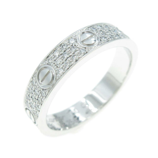 Reserved_ Cartier Mini /Wedding Diamond Paved 18KT White Gold Love Ring US 5