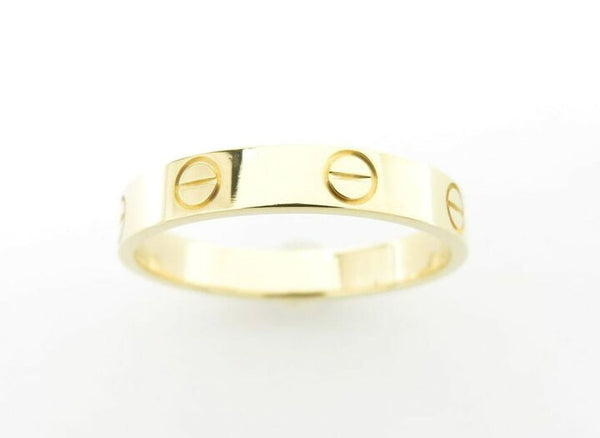 Cartier Wedding/ Mini 18KT Yellow Gold Love Ring Size 57/ 8