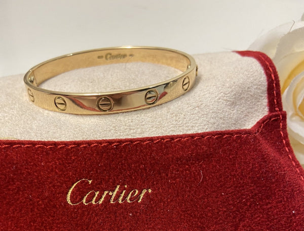 Cartier 18KT Yellow Gold Love Bracelet Size #17