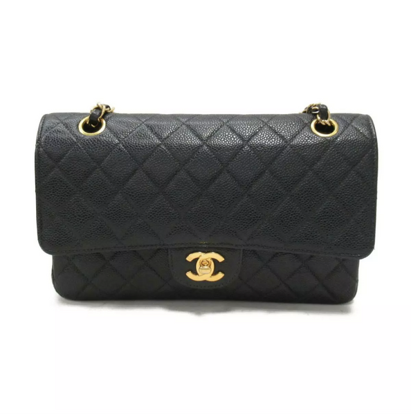SALE* CHANEL Caviar Gold Hardware GHW Medium Double Flap Bag