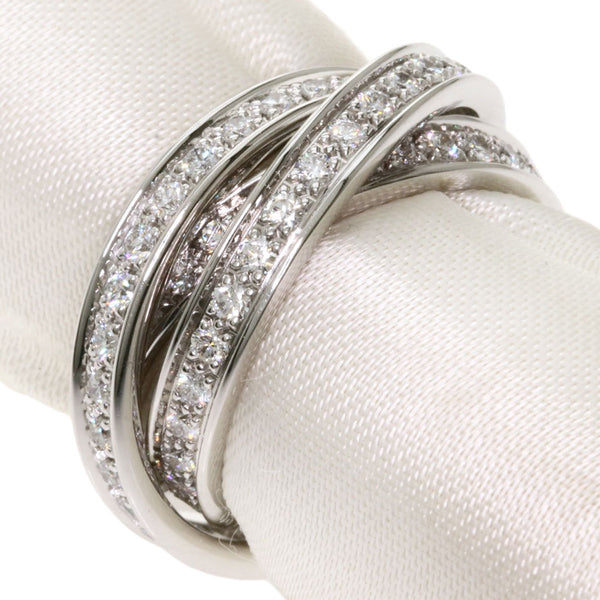 Cartier Diamond Trinity 18KT White Gold Ring Size #51/ US 5.5