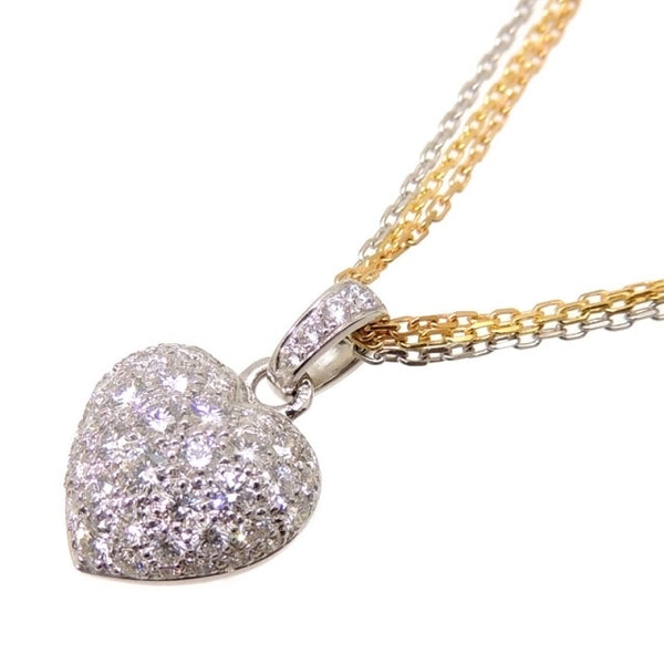 Cartier Diamond-Paved 2.0cts Puffy Heart Trinity 18KT Gold Necklace