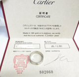 Cartier Love ring 18KT White Gold Size 55/ US 7