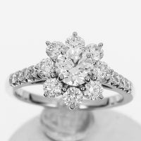 Harry Winston GIA Certified Sunflower Platinum Ring Size #54/ US 6.5