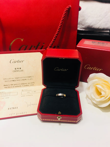 Cartier Mini Love Ring 18KT White Gold #50/ US5