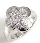 Van Cleef & Arpels VCA Diamond Pure Alhambra Ring Sz 5.5