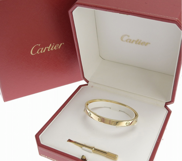 Cartier 18KT Yellow Gold Love Bracelet Size 17