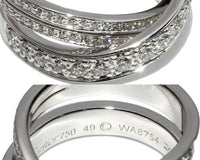 Cartier Diamond Paris Nouvelle Vague Crossover Ring Size 5