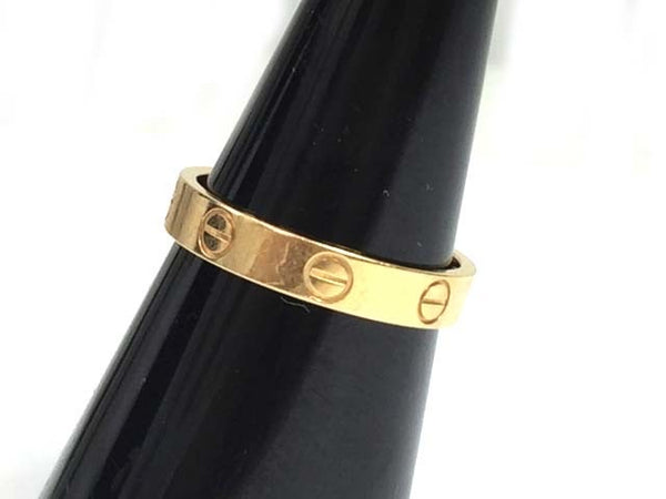 Cartier Mini Wedding Love Ring 18KT Yellow Gold #54/ 7