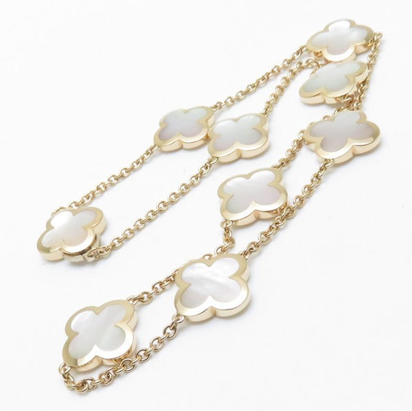 Van Cleef & Arpels Pure Alhambra Mother of Pearl 9 Motif Necklace