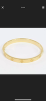 Cartier Love Bracelet 18KT Yellow Gold #16 Screw Motif