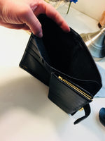 CHANEL French Black Caviar Leather CC Wallet Purse