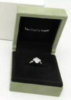 Van Cleef & Arpels Pure Alhambra Diamond Gold Ring #50/ US 5