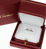 Cartier 1.01ct Diamond Solitaire 1895 Engagement Wedding PT950 Ring