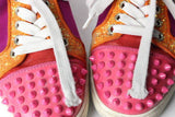 Christian Louboutin Red Bottom Pink Spike Sneakers
