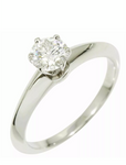 Tiffany & Co. .50ct Diamond Solitaire Wedding/ Engagement PT950 Ring Sz 6