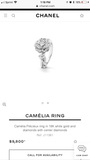 CHANEL Camellia 18KT Gold Precieux Diamond Ring