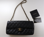 CHANEL Black Caviar Gold Hardware Flap Bag
