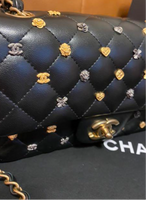 CHANEL Black Lambskin Lucky Charm Embellished Classic Flap Bag