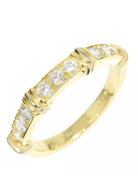 Cartier Contessa Diamond 18KT Gold Ring Sz. 5.5-6