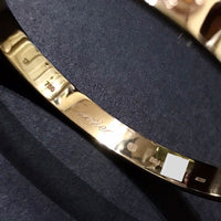 Cartier 18KT Rose Gold Love Bracelet Size 17