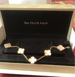 Van Cleef & Arpels (VCA) Alhambra Mother of Pearl 5 Motif Bracelet